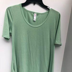 Lula Roe Green Shirt Women's XXS